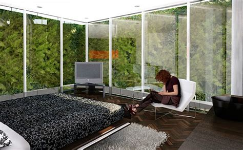 Vertical garden apartments outside in urban gardens