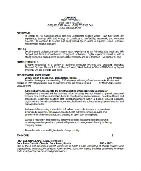Resume Objective Healthcare Administrative Assistant Health Benefits Coordinator Resume Persepolisthesis Web