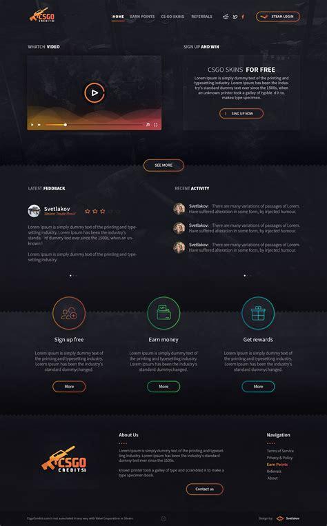 go design cs go credits ui design on behance