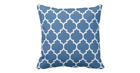 geometric pattern throw navy blue and white quatrefoil geometric pattern throw