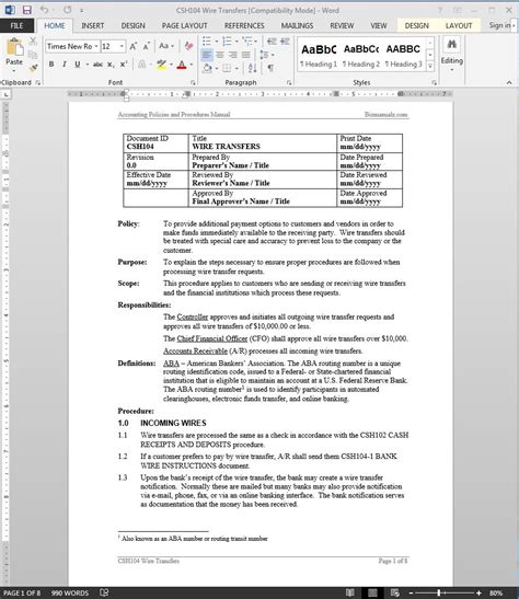 wire transfer receipt template wire transfers procedure