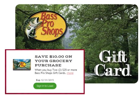 Free Bass Pro Shop Gift Card - 40 reg 50 bass pro shops gift cards at kroger 12 23 only