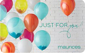 Maurices Gift Card Discount - maurices gift card balance check the balance of your maurices gift cards