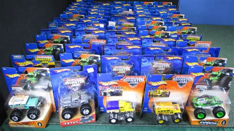 monster jam toy trucks for sale lot of 66 monster jam trucks from 2002 2005 youtube