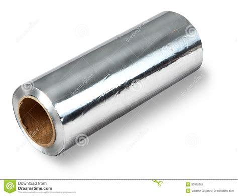 Kemasan Aluminium Foil Roll Large Roll Of Aluminum Foil Food Isolated On White
