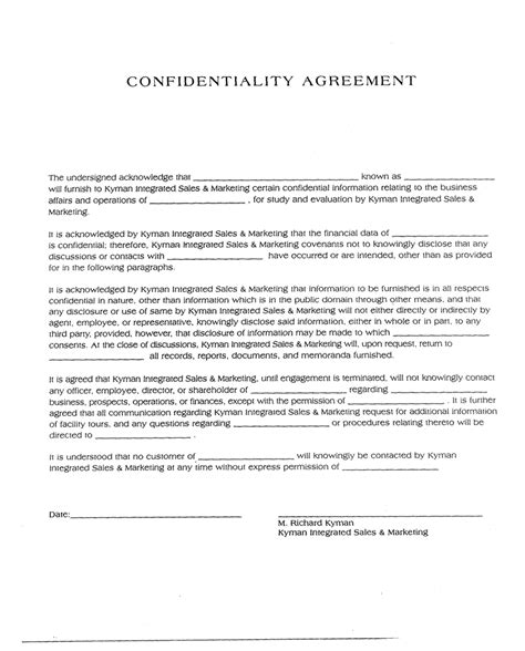 confidentiality template confidentiality agreement get domain pictures