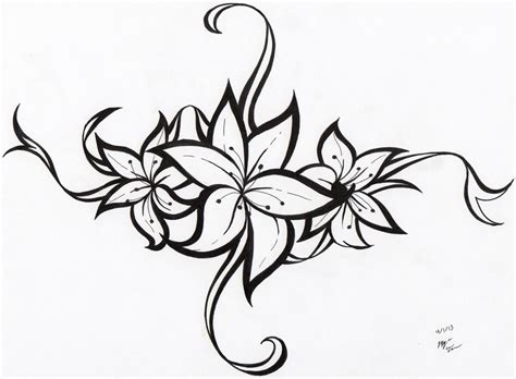 tribal tattoo flower designs flower tribal ideas free images at clker
