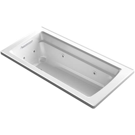 heated whirlpool bathtubs kohler archer 5 5 ft whirlpool tub with bask heated