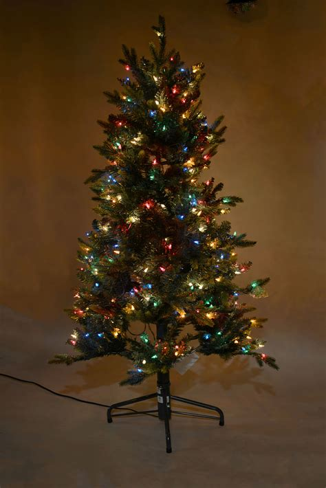 foot lighted pine christmas tree