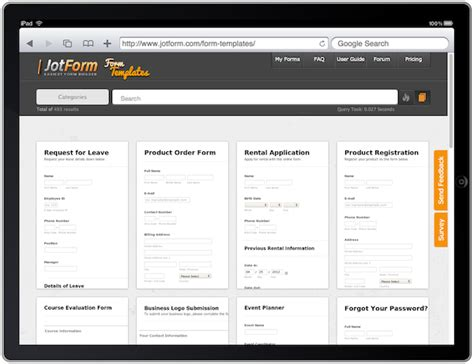 Form Templates Gallery Released Over 500 Ready To Use Forms Free Html Form Templates