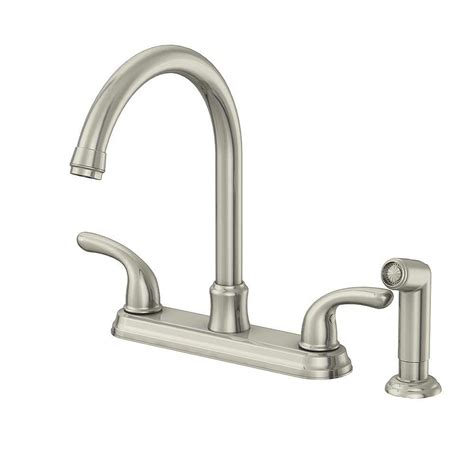 glacier bay kitchen faucet glacier bay builders 2 handle standard kitchen faucet with sprayer in stainless steel