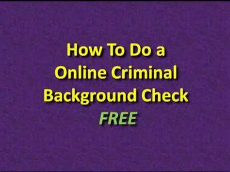 Criminal Record Check Free To Criminal Database Demo Doovi