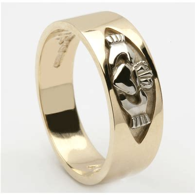 14k yellow gold s claddagh ring 7mm