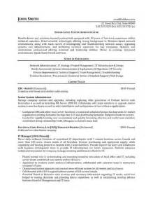 Computer Systems Manager Sle Resume by Click Here To This Senior Level System Administrator Resume Template Http Www