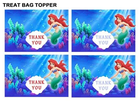 treat bag toppers mermaid birthday printables bag toppers and mermaid