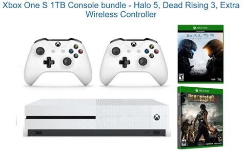 Xbox One S 1tb New Free Fullgames Bisa Pilih deal xbox one s 1tb with halo 5 dead rising 3 and wireless controller available for just