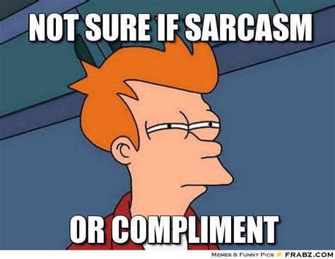 Not Sure Fry Meme - not sure if sarcasm fry meme generator captionator