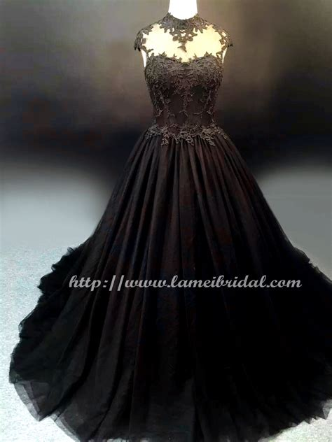 Wedding Dresses Black by Style Black High Neck Wedding Bridal Dress
