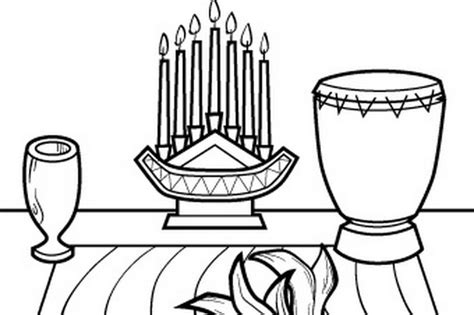free kwanzaa symbols coloring pages