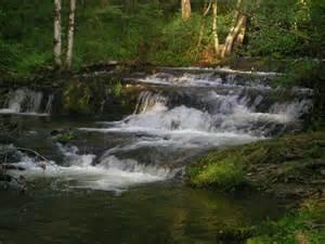 beautiful water fall at cades cove smoky mountain falls