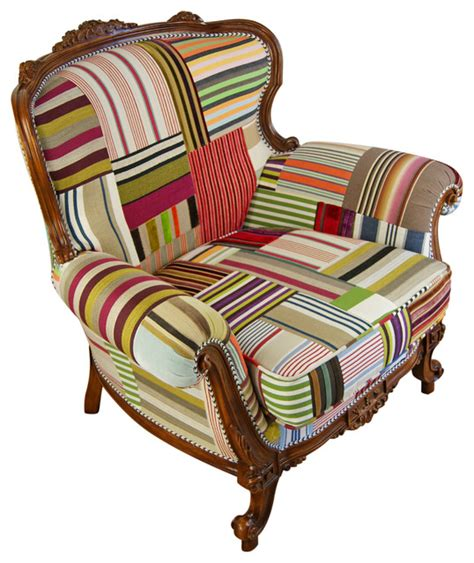 patchwork chairs traditional armchairs and accent