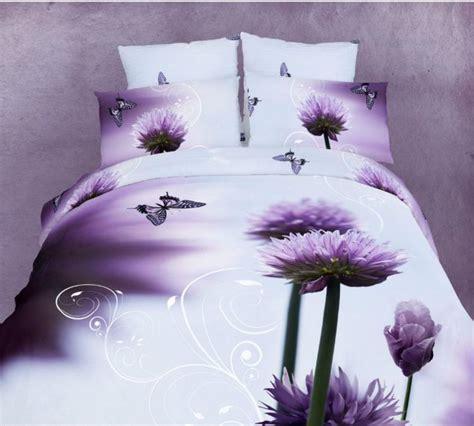 purple queen size bedding 100 cotton purple flowers butterfly 3d bedding set queen