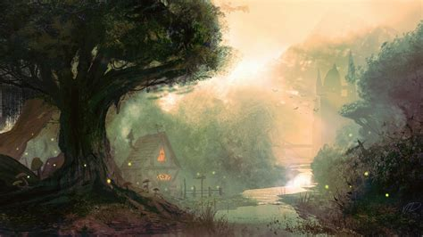 artwork brook countries countryside fantasy art wallpaper