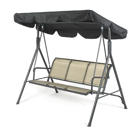 three seater swing seats greenfingers siena 3 seater swing seat blackcopper on sale