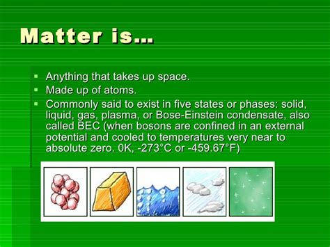 matter and atoms matter and atoms