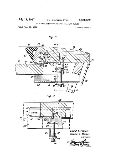 Auto N Lscher by Patent Us3330559 Side Rail Construction For Billiard