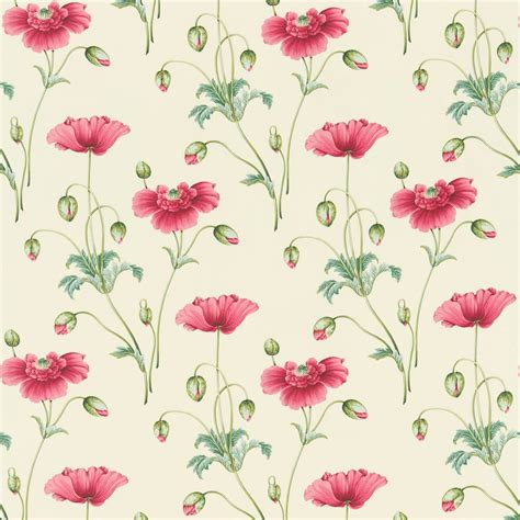 poppy curtain material persian poppy fabric teal pink dpfppp203 sanderson