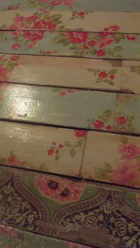 decoupage floors  create  shabby chic flavor