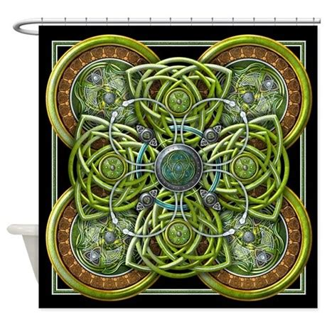 celtic curtains green celtic tapestry shower curtain by naumaddicarts