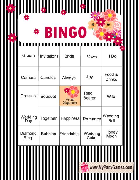 free printable bridal shower game cards elegant free printable bridal shower bingo game cards