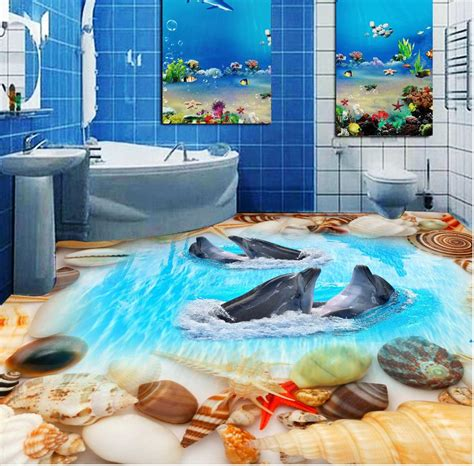 3d bathroom floor art 3d flooring painting a guide to installing epoxy floor