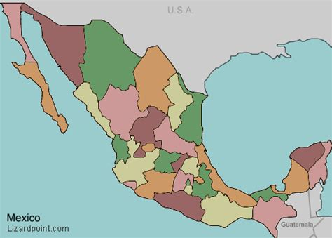 map of mexico provinces test your geography knowledge mexico federal states