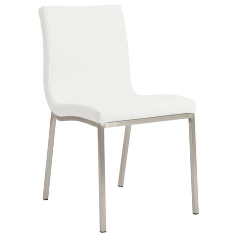 modern dining chairs white smith modern white dining chair eurway furniture