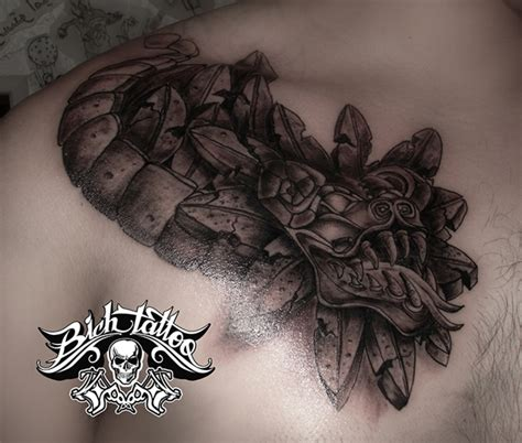 quetzalcoatl tattoo on chest quetzalcoatl