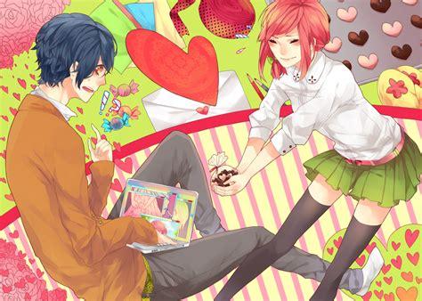 Anime Girl Day Shojo Sensei Honmei Vs Giri Chocolate Heart Of Manga