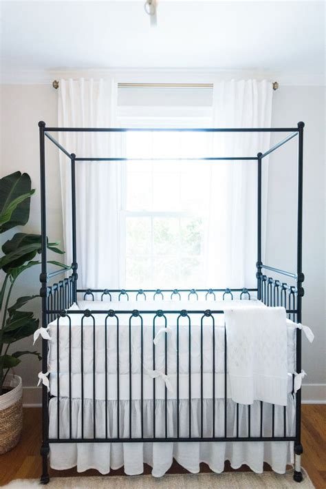 baby room canopy neutral baby nursery with black iron canopy crib babies neutral baby nurseries