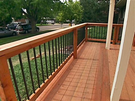 deck railings how to build custom deck railings how tos diy