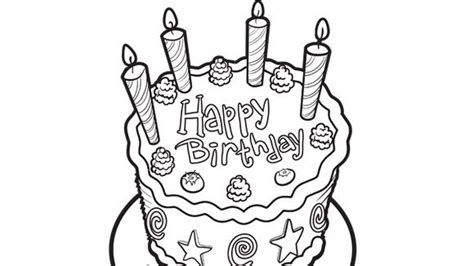 blank birthday coloring pages blank birthday cake coloring pages