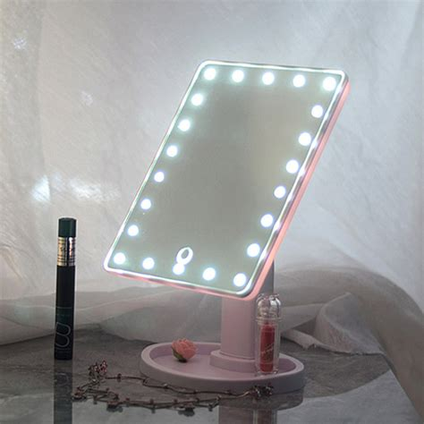 Touch Screen Makeup Mirror Tabletop Cosmetic Vanity Light