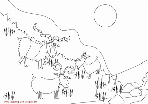 billy goats gruff coloring pages coloring home