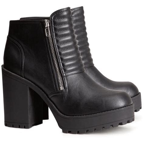 h m platform boots polyvore