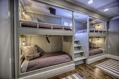 bunk bed for 4 4 bunk beds country boy s room magnolia homes