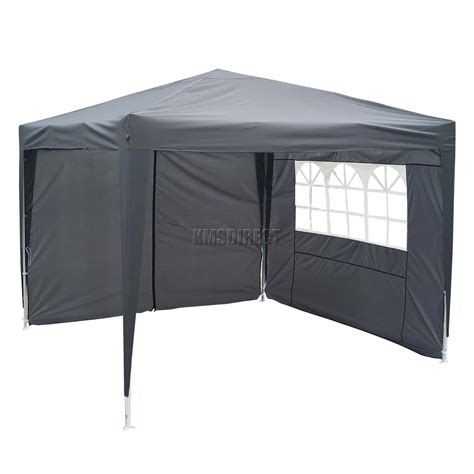 gazebo awning foxhunter waterproof 3x3m pop up gazebo marquee garden