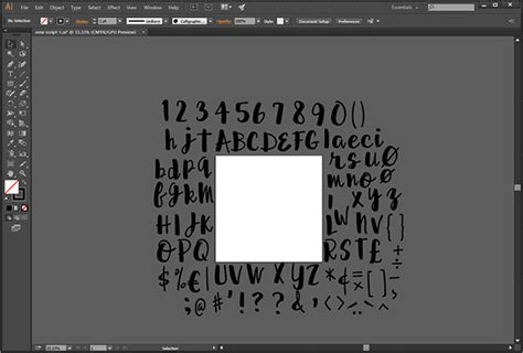 script lettering tutorial illustrator creating my first connecting script font themissy com