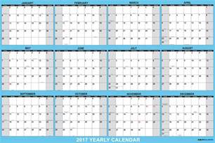 Calendar 2018 Printable Yearly Yearly Calendar 2017 2018 Calendar Printable