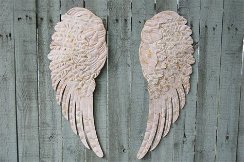 pink angel wings wall decor  vintage artistry